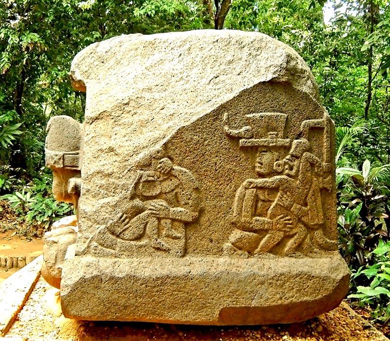 Altar 5 from the Olmec city of La Venta