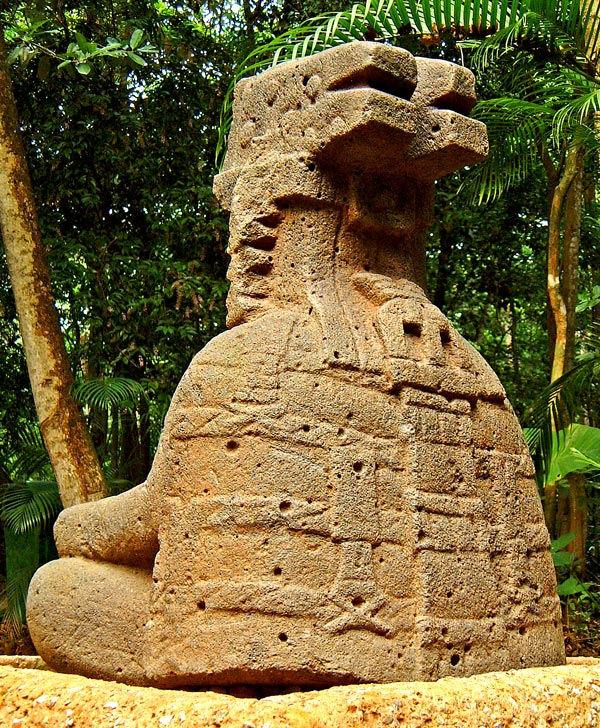 Rear image of Monument 77 from La Venta