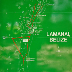 Map of Lamanai