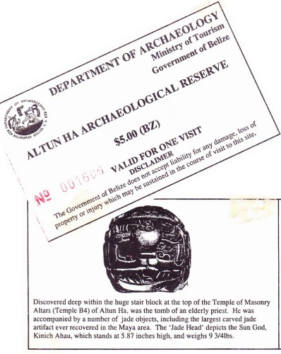 Altun Ha Tickets 2002