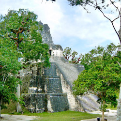 The Templo Del Mascaras (Templo II), from Tikal