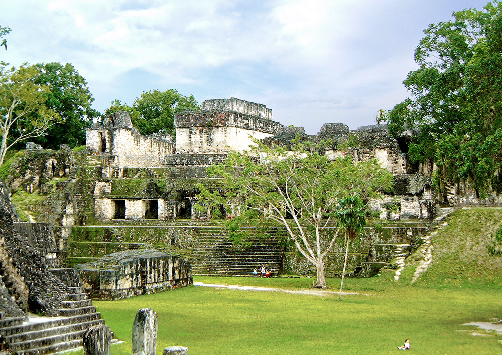 The central acropolis at Tikal