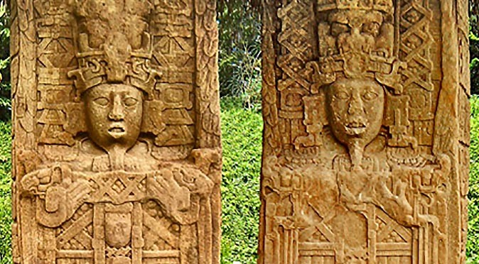 Quirigua's stelae A & C - The Creation Stones