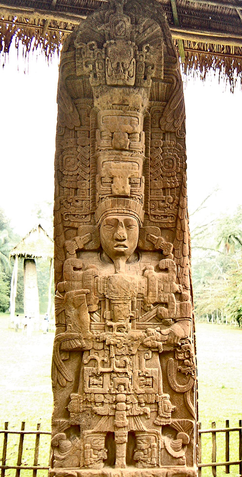 The front of Stela D at Quirigua