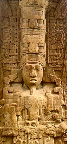 Headdress from Stela D at Quirigua