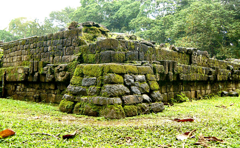 Rear South-West Corner of Acropolis at Quirigua