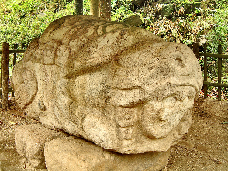 Zoomorfo N at Quirigua