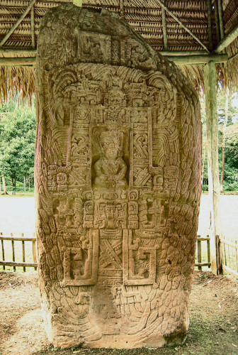 The back of Stela I at Quirigua