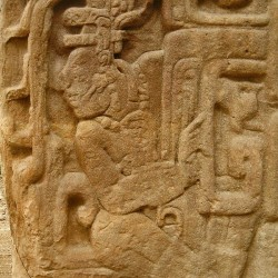 The Corn God on Stela H at Quirigua