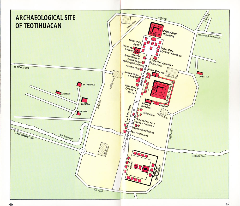 Map of Teotihuacan