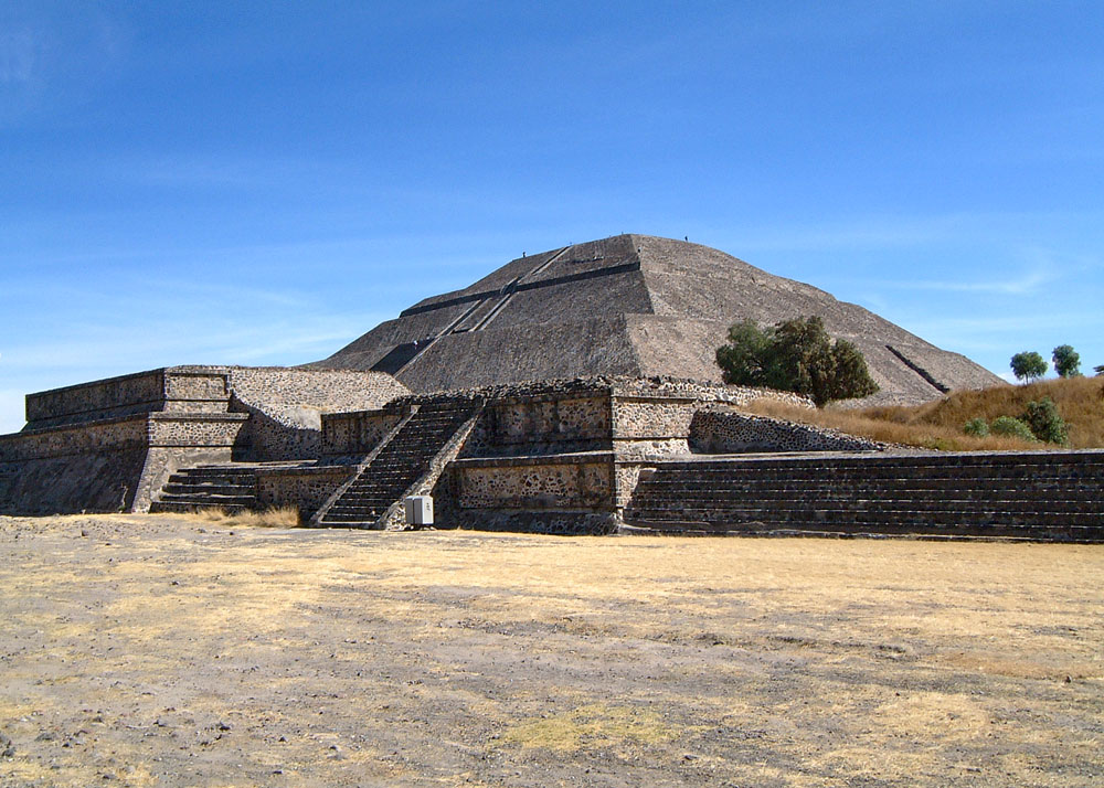 Talud-Tablero Temple on Avenue of the Dead at Teotihuacan
