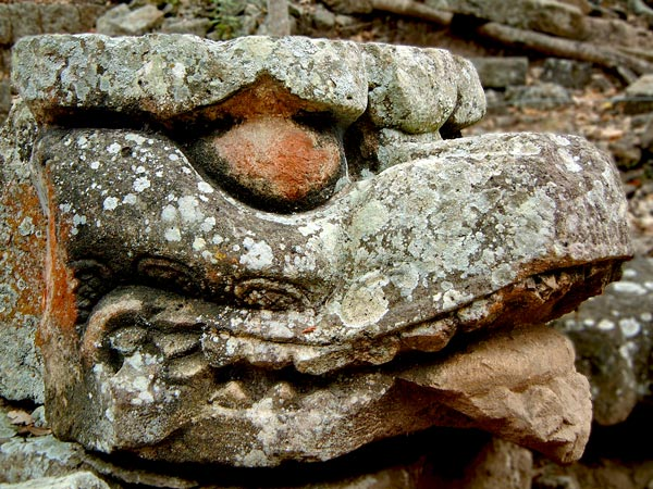 Serpent Head at Copan