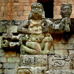 Howler Monkey God at Copan