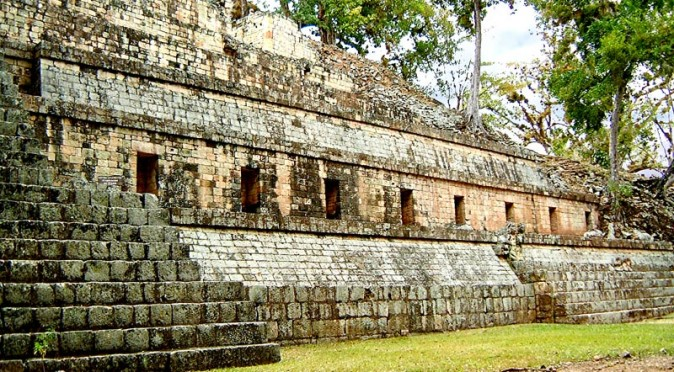 Structure 11. known as the Temple of Inscriptions, at Copan