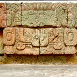 Cauac Earth Monsters from Templo 10L-18 at Copan