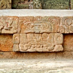 Cauac Earth Monster found in Structure 10L-18 at Copan