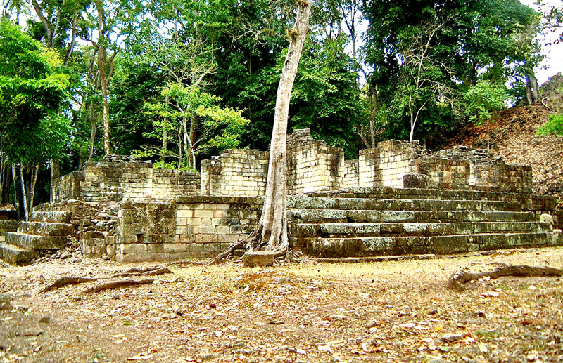 Structures 32 and 33 in Copan's El Cementario Area