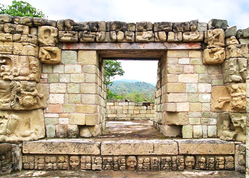 Carved Entrance to Temple 22 at Copan