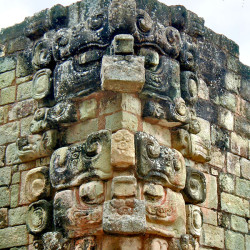 Chaac on Templo 22 at Copan
