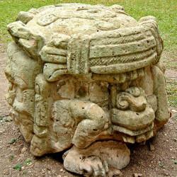 Altar to Stela N at Copan