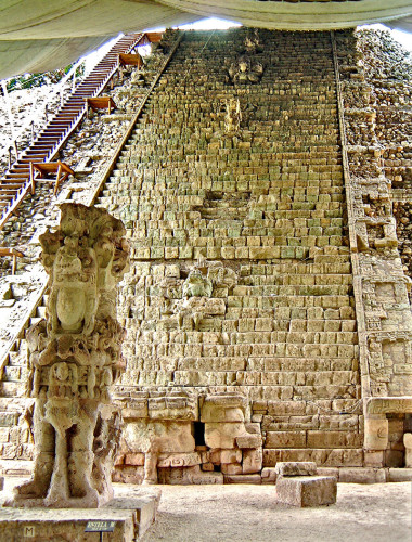 Structure 26, The Hieroglyphic Stairway, at Copan