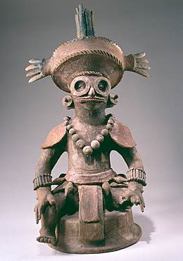 Incense Burner Lid featuring Yax K'uk Mo' from Copan
