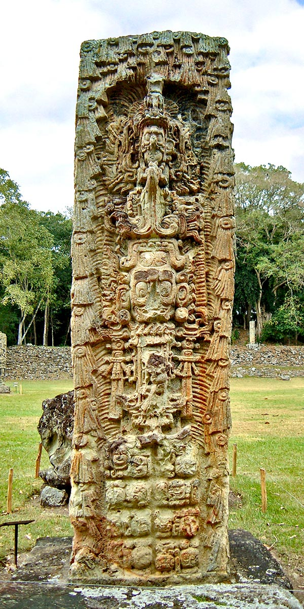 Back of Stela H at Copan