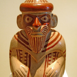 Bearded man from the Museo de Antropologia in Lima