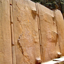 Wall of the Six Monoliths at Ollantaytambo