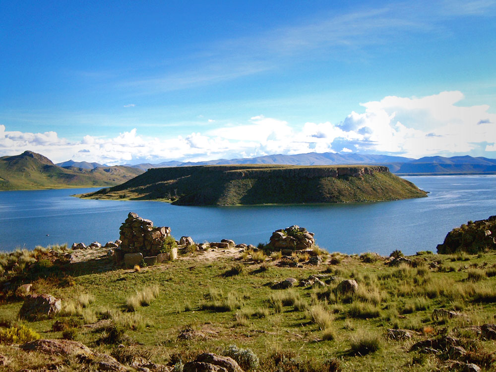Chullpas and Lake Umayo at Sillustani