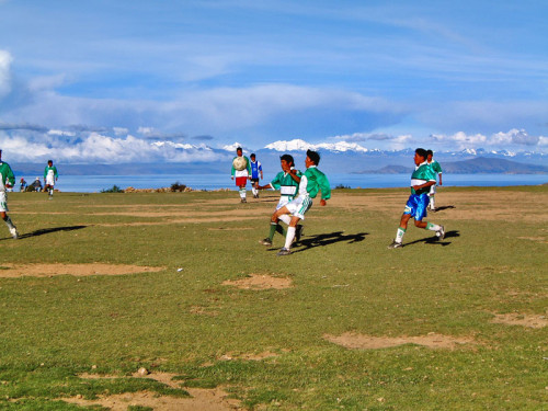 Football on the Isla Del Sol
