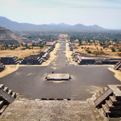 View from Pyramid of the Moon at Teotihuacan