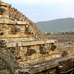 Temple of Quetzalcoatl at Teotihuacan