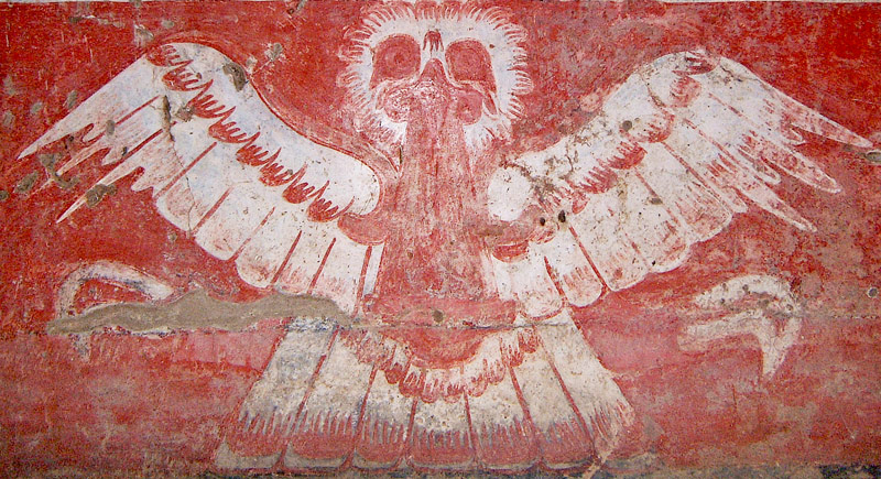 Owl with Bloodied Mouth from Tetitla