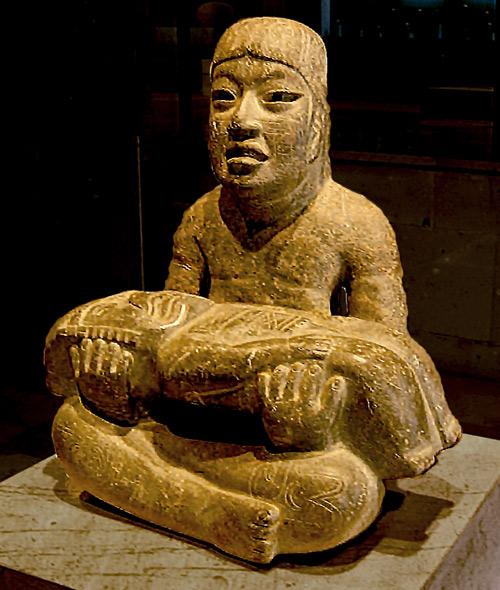 Olmec statue, known as Las Limas Monument