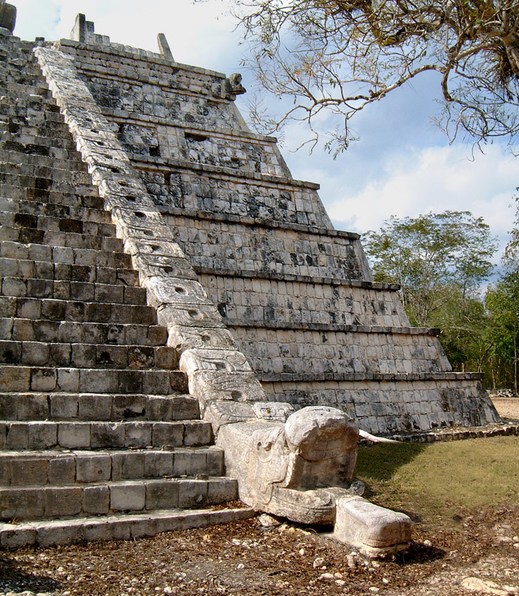 Chichen Itza Osario Pyramid Serpent Stairs
