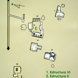 Chicanna archeaological site map