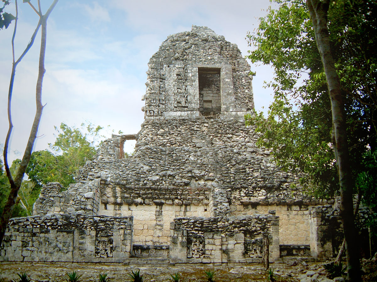 East Wall of Chicanna Structure XX