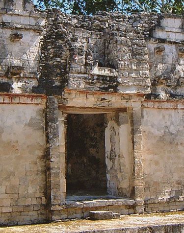 Left doorway of Structure II Resembles a Maya House