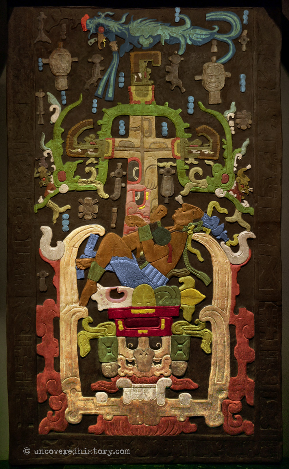 Kinich Janab Pakal Sarcophagus from PalenqueLid Coloured