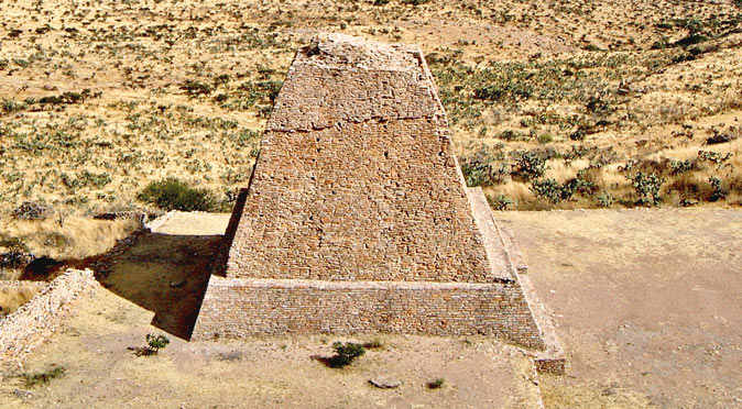 Votive Pyramid at La Quemada